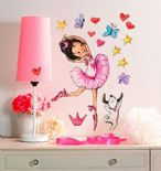 Wallies Big Wall Stickers Ballerina